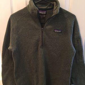 Patagonia pullover - dark green ladies medium